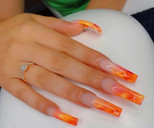 acrylics, stilettos, and nail design image
