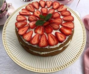 baking, strawberry, and dessert image