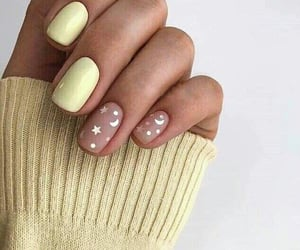 nails, manicure, and moon image