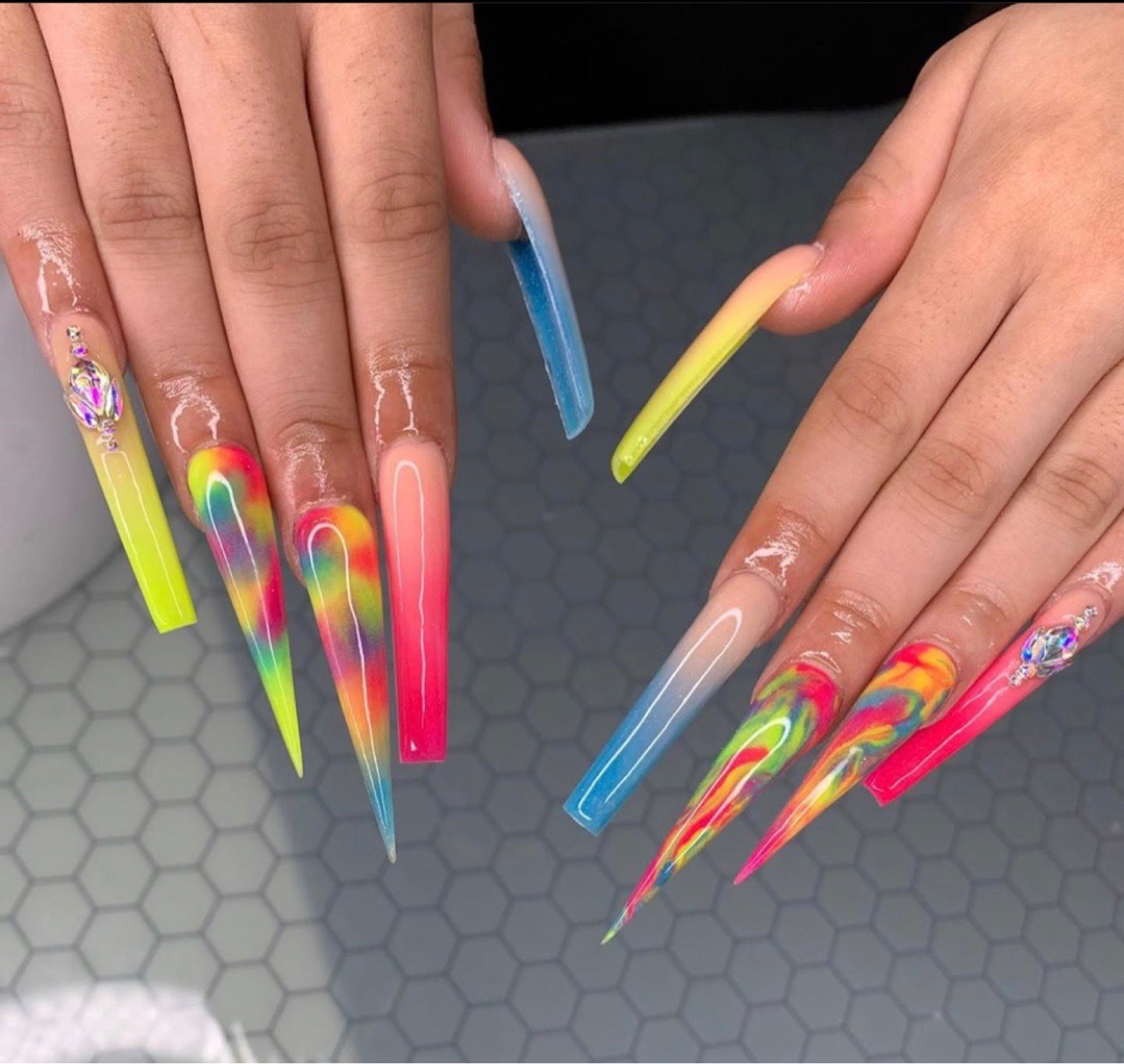 acrylics, essentials, and pedicures image