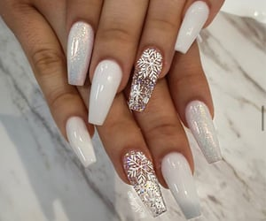 manicure, nails, and stilettos image