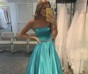beauty, grad dress, and green prom dresses image