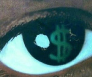 dollar, eye, and money image