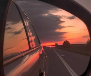 aesthetic, car, and sky image