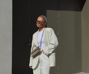 street style, white blazer, and everyday look image