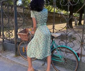 biking, floral print, and life image