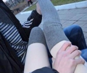 couple, cute couple, and legs image