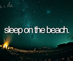 beach, sleep, and stars image