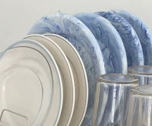 aesthetic, blue and white, and blue image
