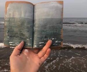 art, beach, and sea image