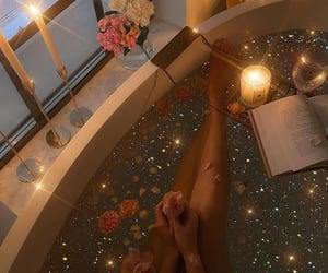 flowers, aesthetic, and bathtub image