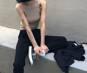 black, fit, and skinny image