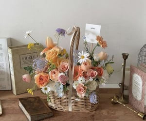 bouquet, flowers, and orange image