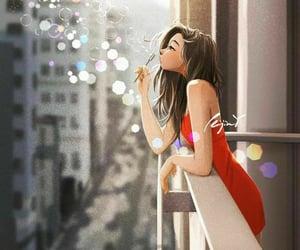 alone, art, and balcony image