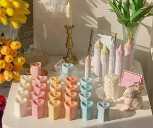 aesthetic, candles, and pastel image