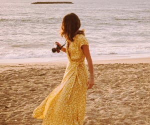 beach, girl, and photography image