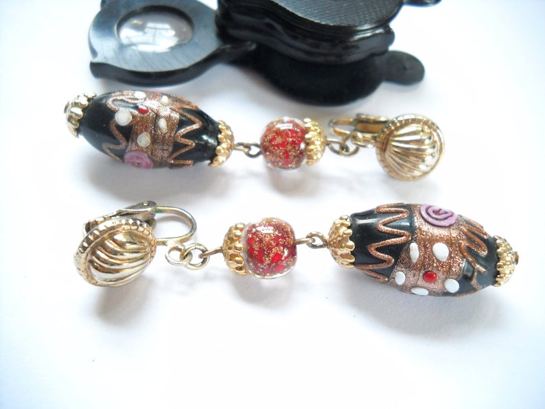 clip on, vintage earrings, and statement earrings image