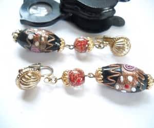 long earrings, glass earrings, and etsy image