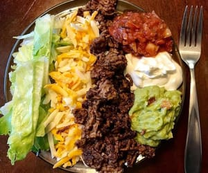 diet, weightloss, and taco salad image