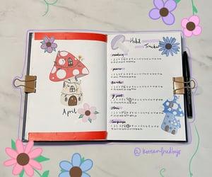 flowers, bulletjournal, and mushroom image