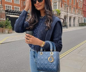 blogger, blue sweater, and dior image