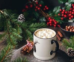 christmas, marshmallow, and plants image