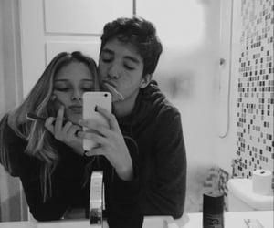 couple, brush teeth, and couplegoals image