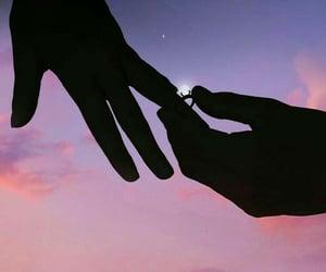 couple, love, and dark image