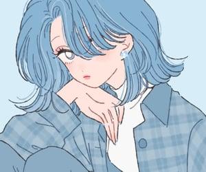 art, avatar, and blue image