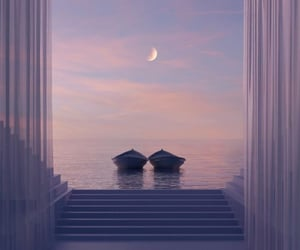 beautiful, закат, and романтика image