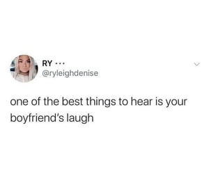 boyfriend, laugh, and thoughts image