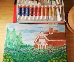 cottage, cottagecore, and art image