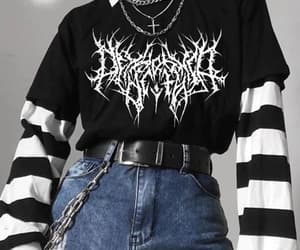 gothic, tshirt, and black image