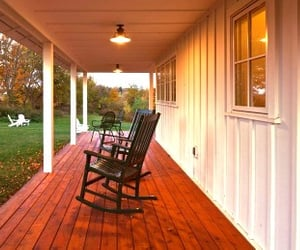 porch, country living, and farm image