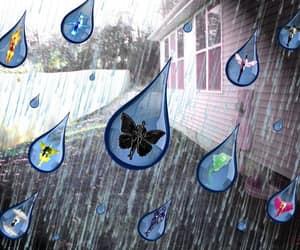 rain, rainy day, and angels image