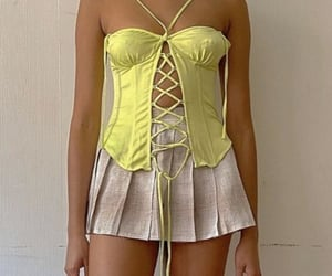 bustier, fashion, and mini skirt image