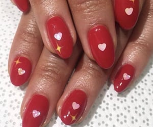 heart, nail inspo, and manicure image