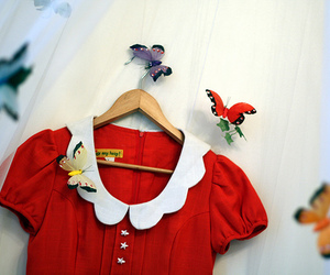 butterfly and red dress image