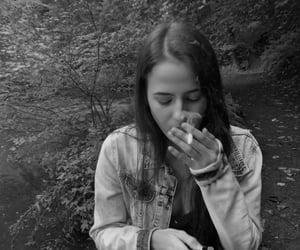 cigarrete, teenager, and girl image