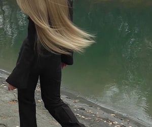 classy, long hair, and skinnny image