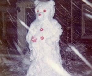 creepy and snowman image