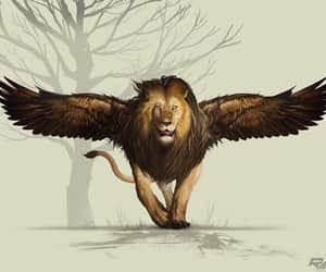 art, hybrid, and lion image