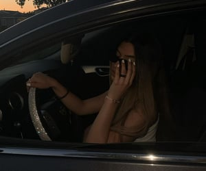 aesthetic, car, and girl image