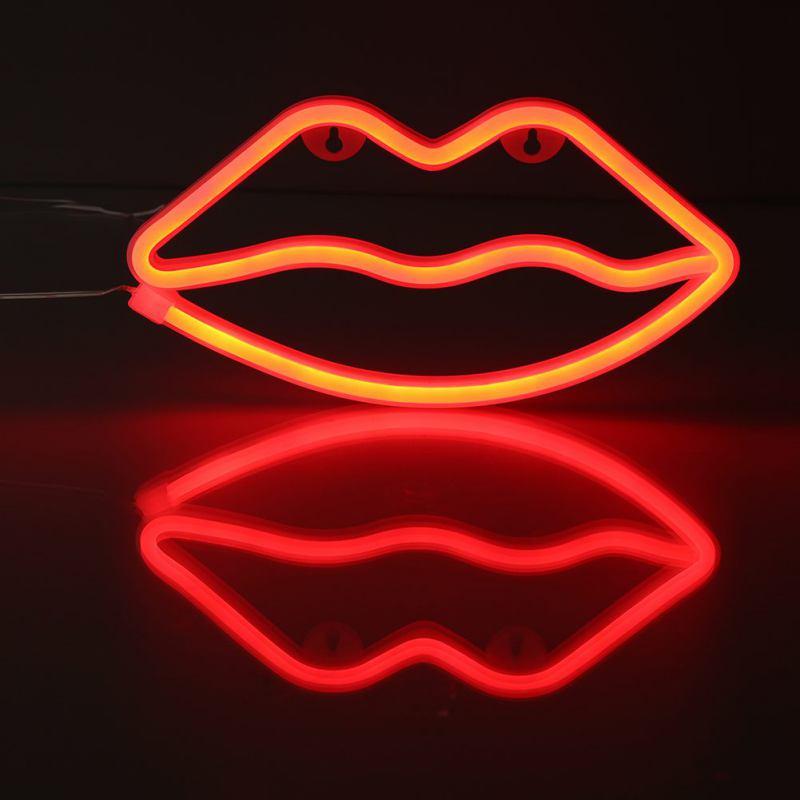 art, lips, and neon image