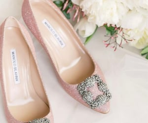 high heels, pink high heels, and pink pumps image