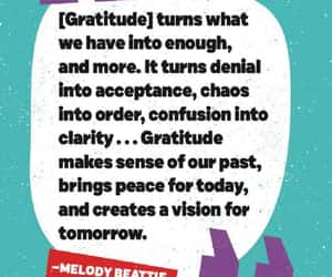 gratitude, life lessons, and quotes image
