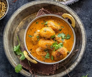 indian food, asian food, and potato curry image