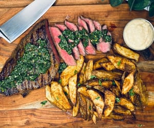 fries, roast beef, and potato chips image