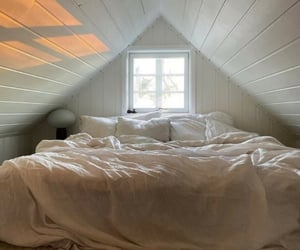 bed, beige, and interior image