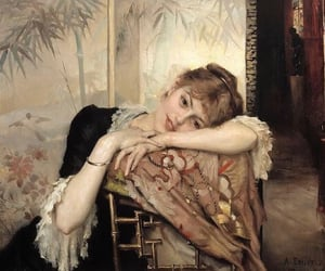 art, painting, and albert edelfelt image